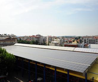 seferihisar belediyesi güneş enerjisi santrali