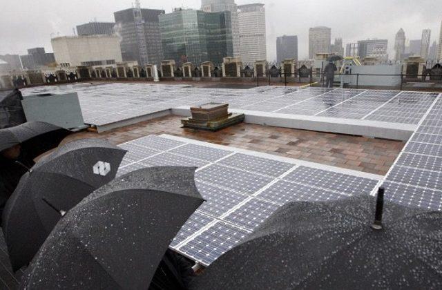 yağmurdan elektrik üreten güneş panelleri