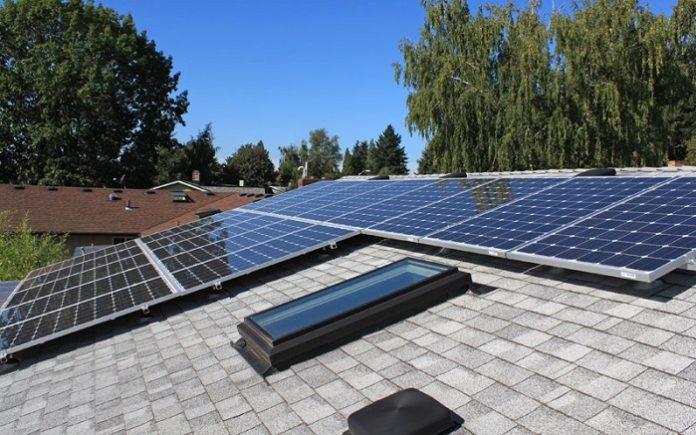solar panel ve çatı, panel