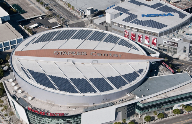 Staples Center Stadium solar energy