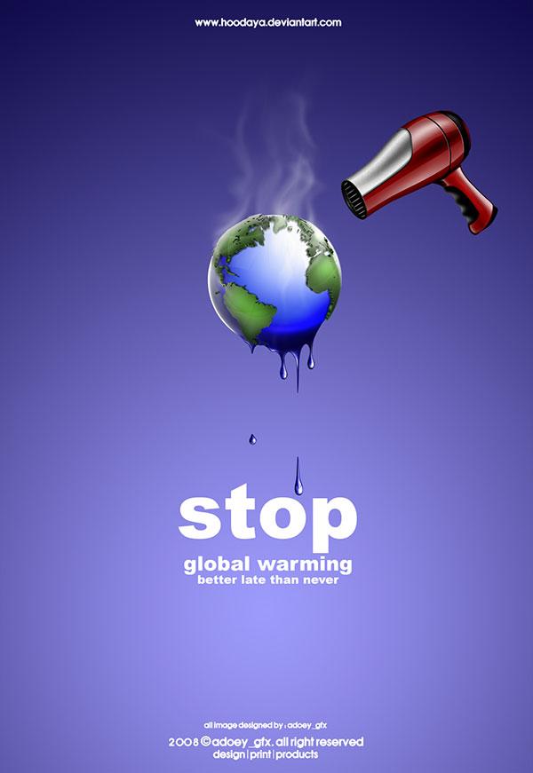 küresel ısınma poster