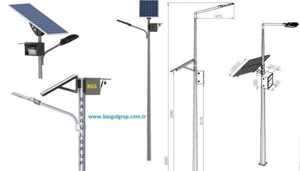 48 Watt Solar Aydınlatma Direği