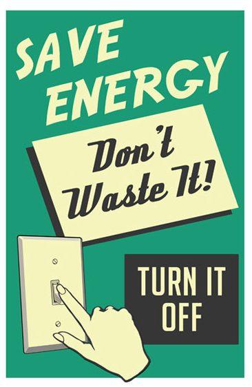 Enerji tasarrufu afişi