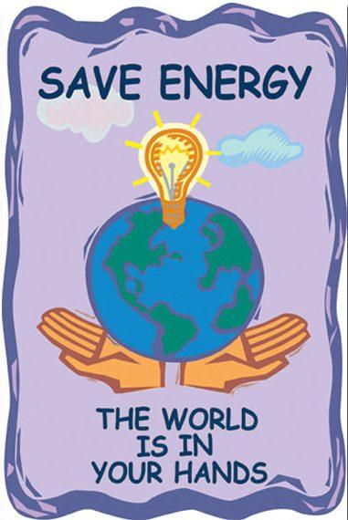 Enerji tasarrufu hakkında afiş