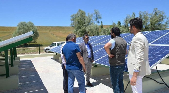Dişli köyü içme suyunu güneş enerjisinden