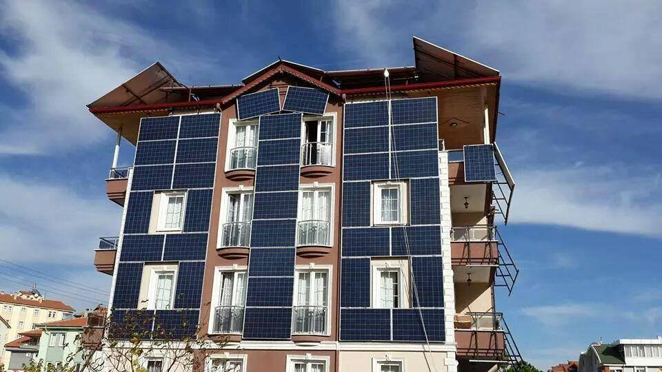 güneş enerjili cephe kaplaması
