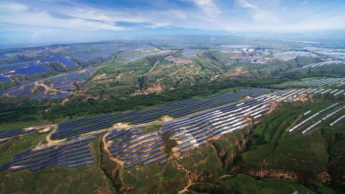 çin güneş enerjisi tesisi